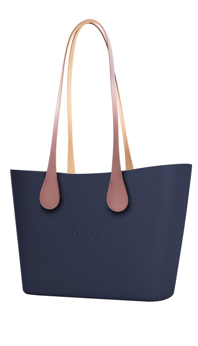 O bag kabelka Urban Navy s dlouhými koženkovými držadly Extra Slim Phard