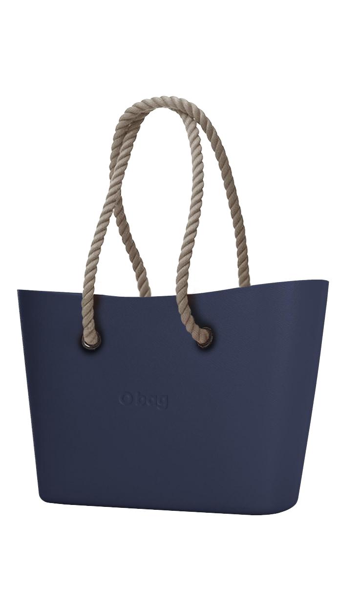 O bag kabelka Urban Navy s dlouhými provazy natural