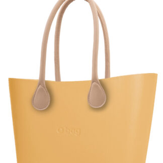 O bag  kabelka Urban Caramello s dlouhými koženkovými držadly natural