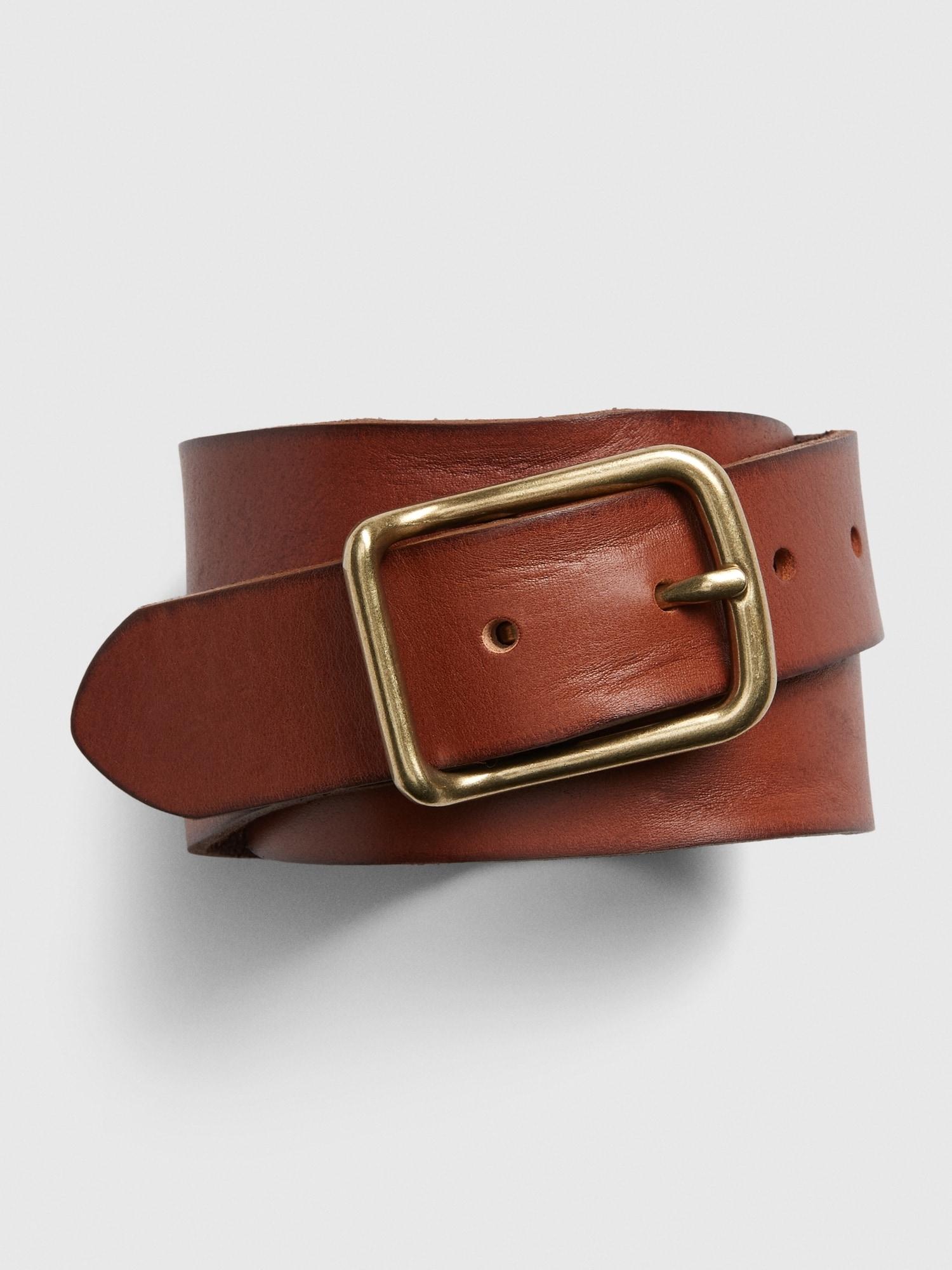GAP hnědý kožený dámský pásek