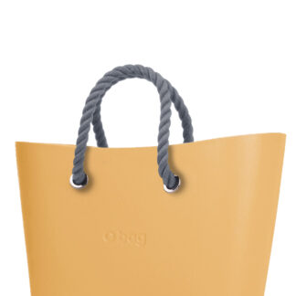 O bag  kabelka Urban Caramello s šedými krátkými provazy