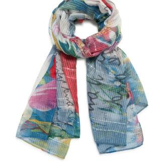 Desigual barevný šátek Foul Art Picture Light