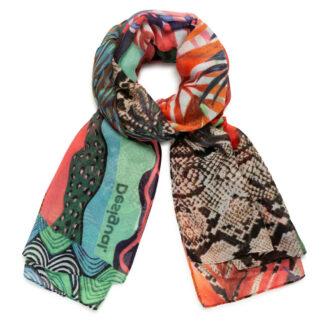 Desigual barevný šátek Foul Pitahaya