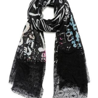 Desigual černý šátek Foul Jaleo