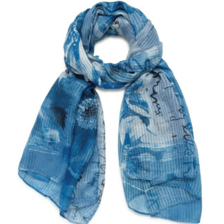 Desigual modrý šátek Foul Art Picture