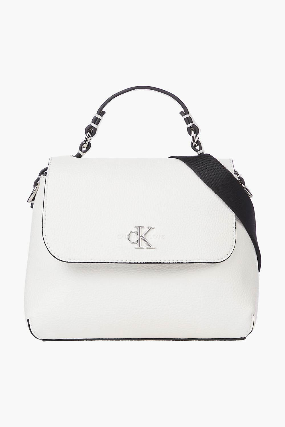 Calvin Klein bílá kabelka Mini Top Handle