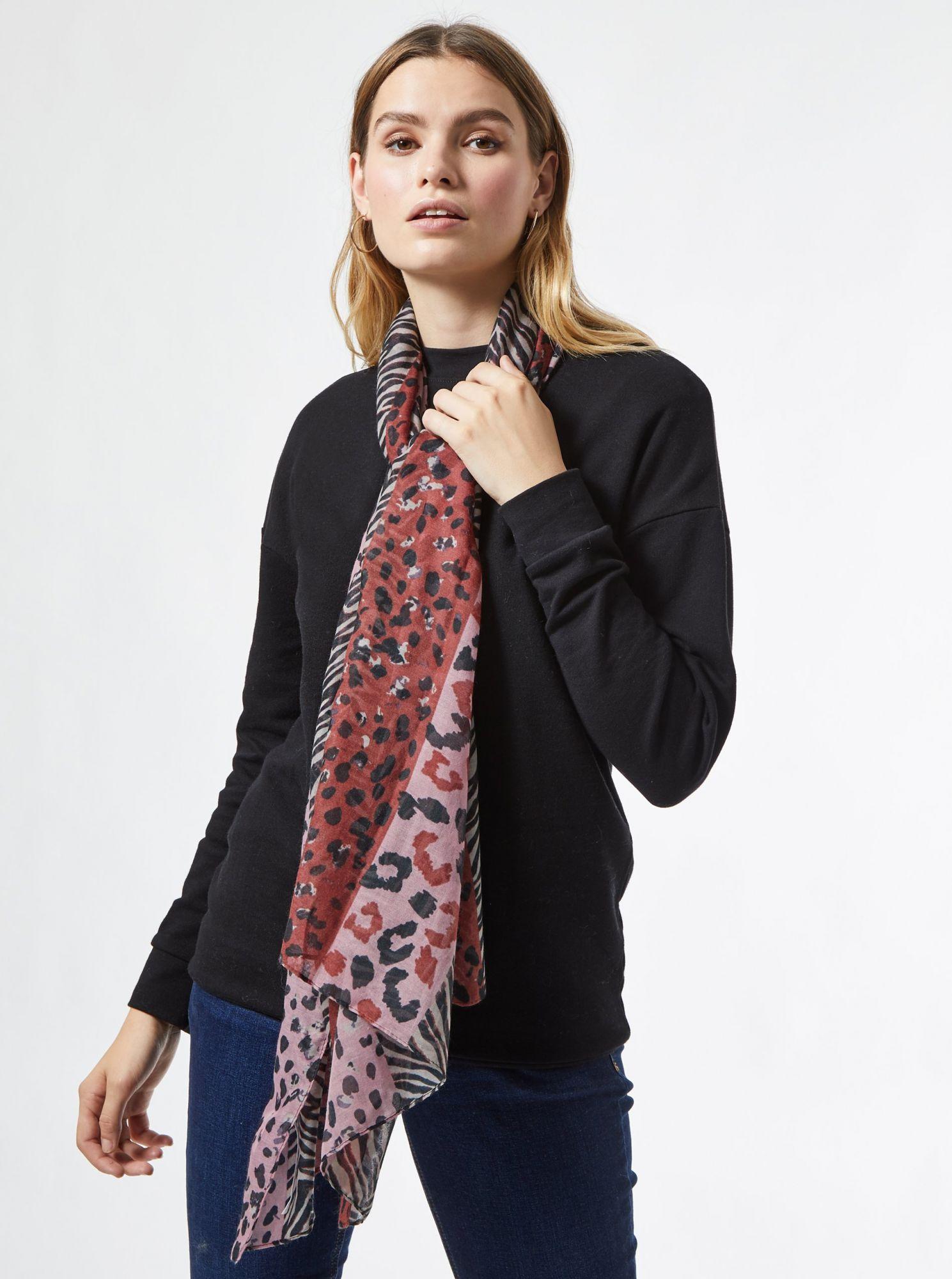 Růžový vzorovaný šátek Dorothy Perkins