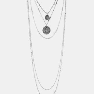 Náhrdelník ve stříbrné barvě Pieces