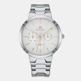 Dámské hodinky s ocelovým páskem ve stříbrné barvě Tommy Hilfiger