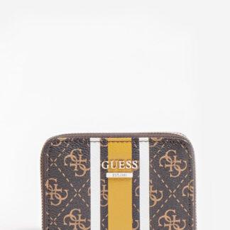Guess hnědá Jesen 4G Logo Mini Wallet