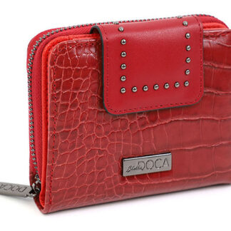 Doca červené malá peněženka s logem