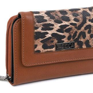 Doca hnědá peněženka s leopardím vzorem