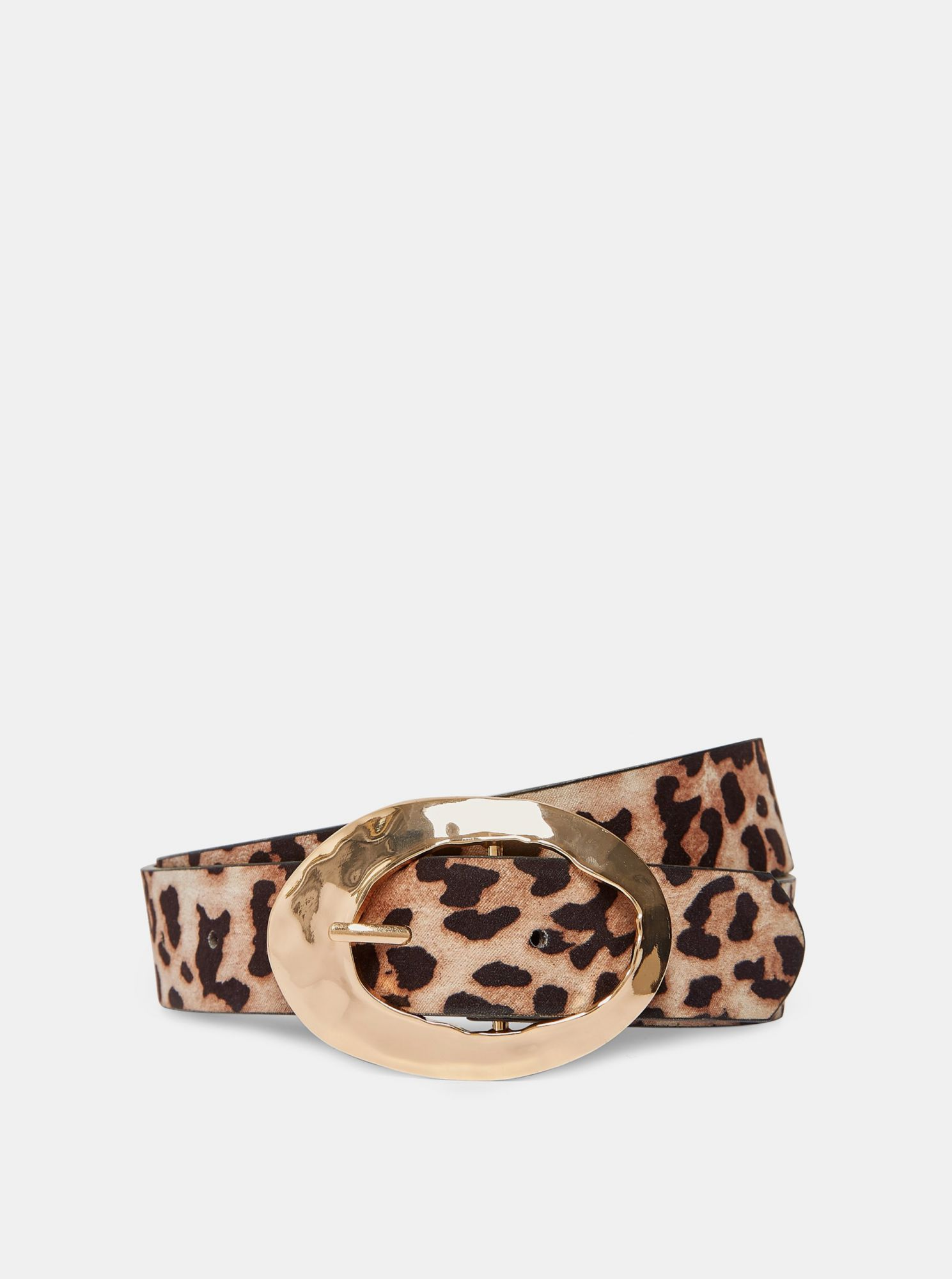 Hnědý pásek s leopardím vzorem Dorothy Perkins