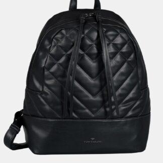 Černý dámský prošívaný batoh Tom Tailor