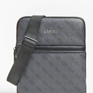 Guess tmavě šedá pánská taška Vezzola 4G logo