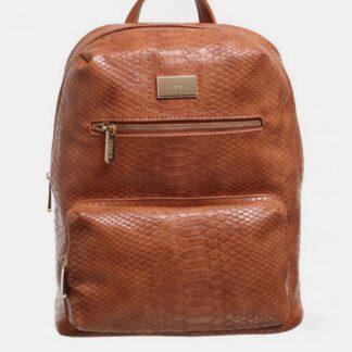 Hnědý batoh s krokodýlím vzorem Bessie London