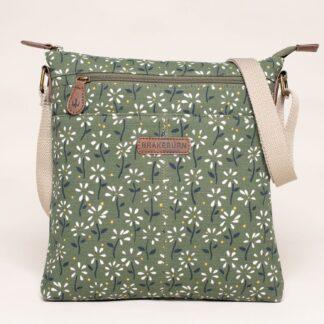 Zelená květovaná crossbody kabelka Brakeburn