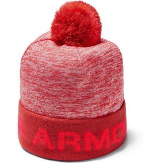 Čepice Under Armour Boy'S Gametime Pom Beanie-Red