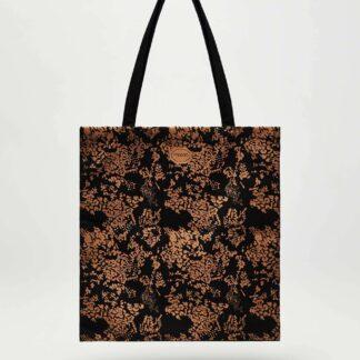 Moodo černo-hnědá látková taška se vzorem