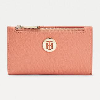 Tommy Hilfiger pudrově růžová peněženka Honey Slim Wallet Clay Pink