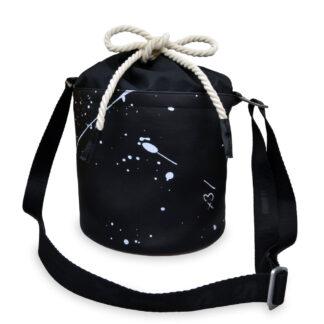 Xiss černá crossbody kabelka Mini Black Splash
