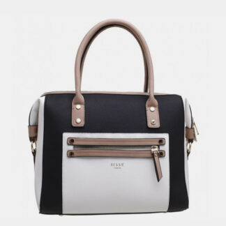 Bílo-černá kabelka Bessie London
