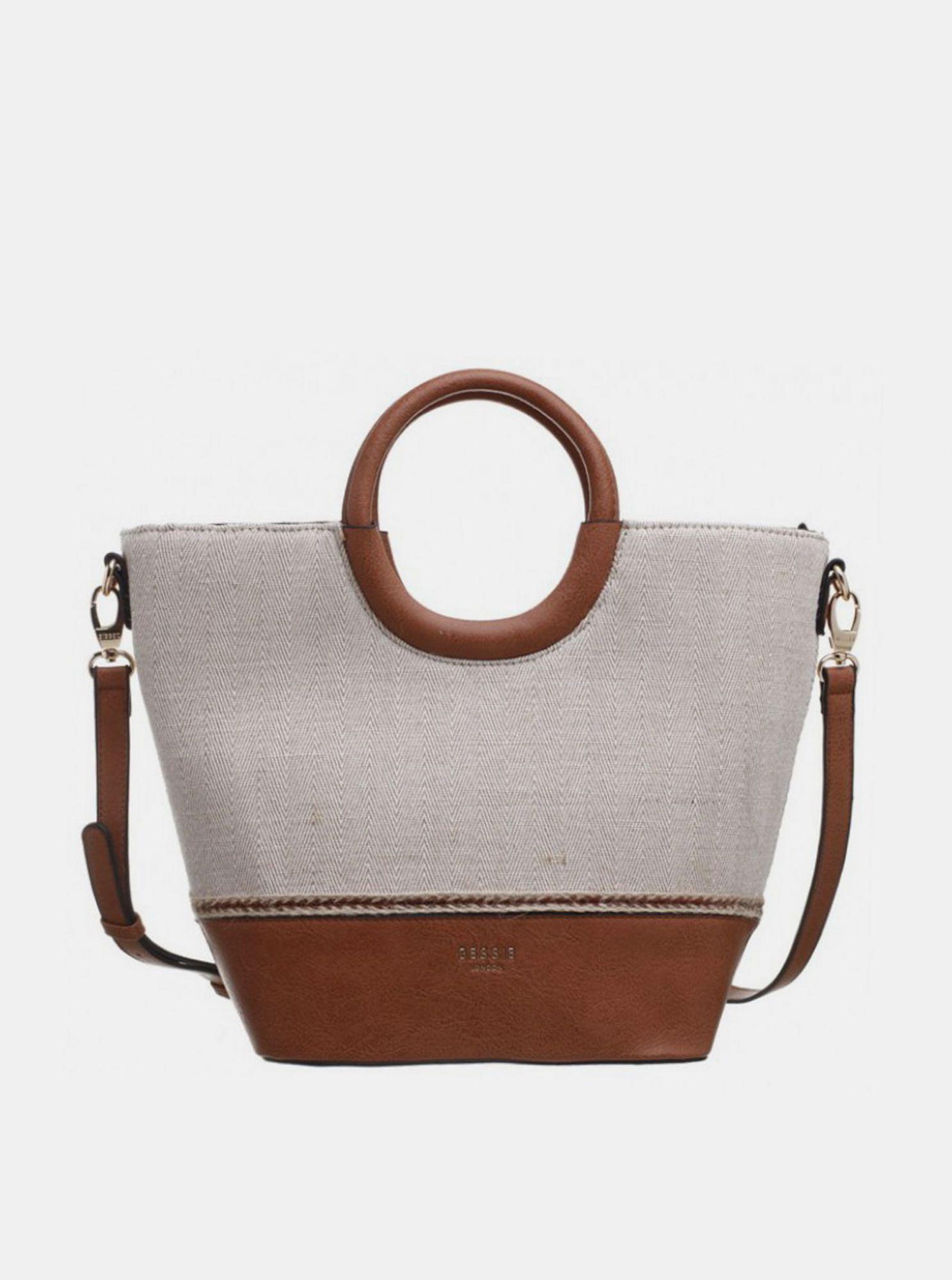 Hnědo-béžová kabelka Bessie London