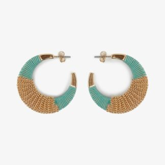 Modro-zlaté náušnice Pieces Nura