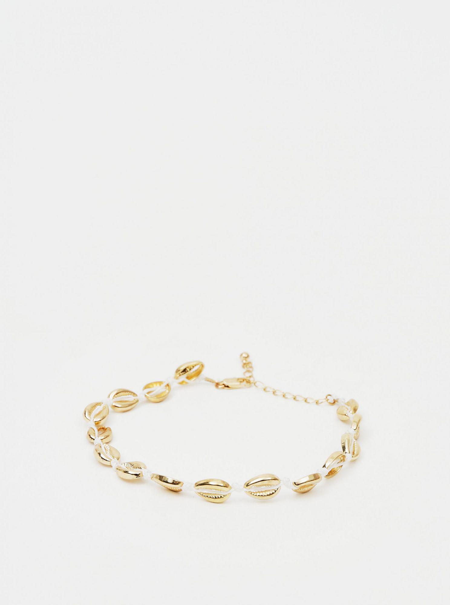 Náramek ve zlaté barvě na kotník Pieces Nella