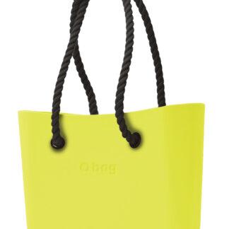 O bag kabelka Lime s černými dlouhými provazy