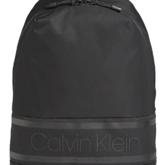 Calvin Klein černý batoh Striped Logo Round Backpack