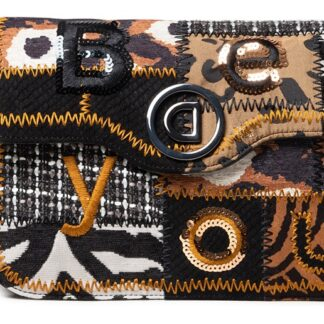 Desigual černo-hnědá crossbody kabelka Bols New 1968 Amorgos