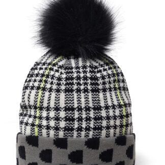 Desigual černo-šedá oboustranná čepice Hat Monogram Reversible