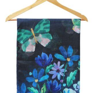 Disaster barevný šátek Papillon Blue Scarf