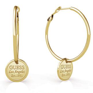 Guess zlaté náušnice Hula Hoops