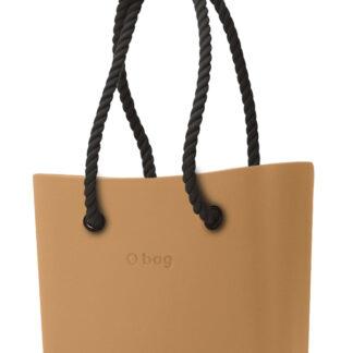 O bag kabelka Biscotto s černými dlouhými provazy