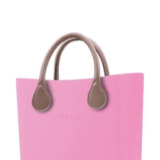 O bag kabelka MINI Pink s krátkou koženkou Tortora