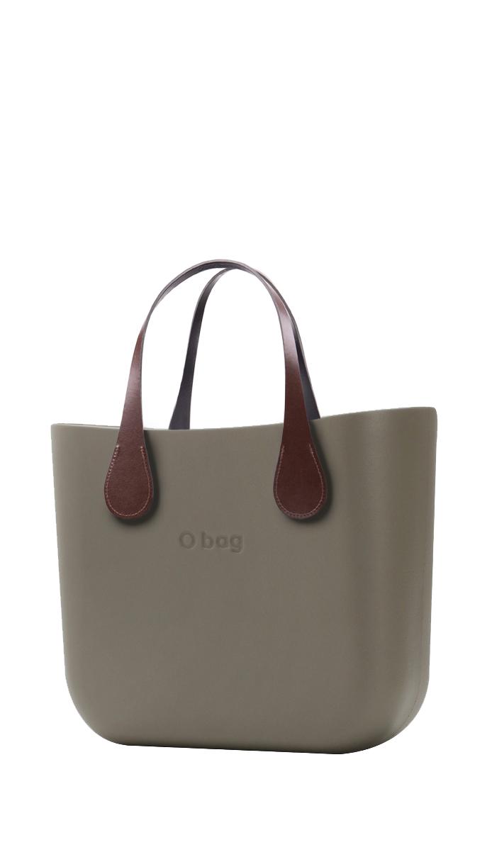 O bag kabelka MINI Rock s krátkými koženkovými držadly Extra Slim Marrone