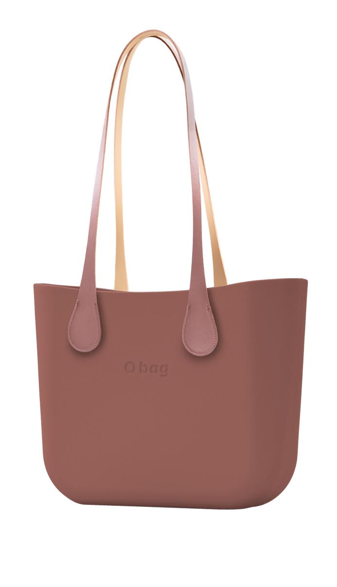 O bag  kabelka Marsala s dlouhými koženkovými držadly Extra Slim Phard