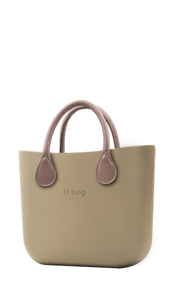 O bag  kabelka MINI Sabbia s krátkou koženkou Tortora