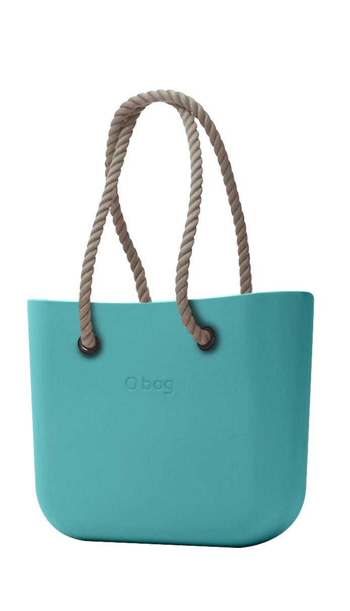 O bag kabelka Aqua s dlouhými provazy natural