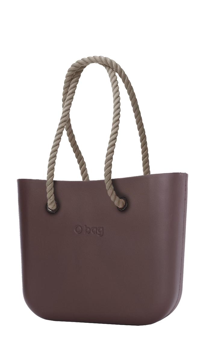O bag kabelka Chocolate s dlouhými provazy natural