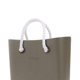O bag kabelka MINI Rock s bílými krátkými provazy