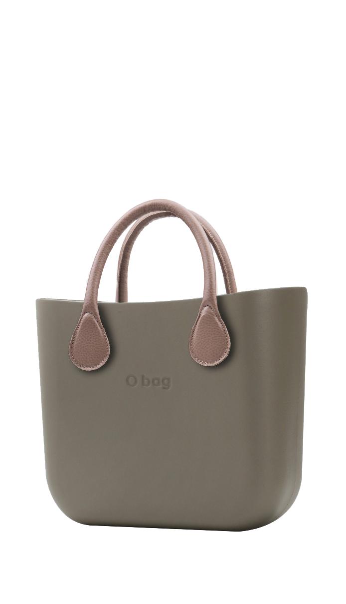 O bag kabelka MINI Rock s krátkou koženkou Tortora