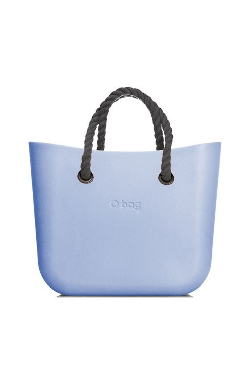 O bag kabelka MINI Skyway s šedými krátkými provazy