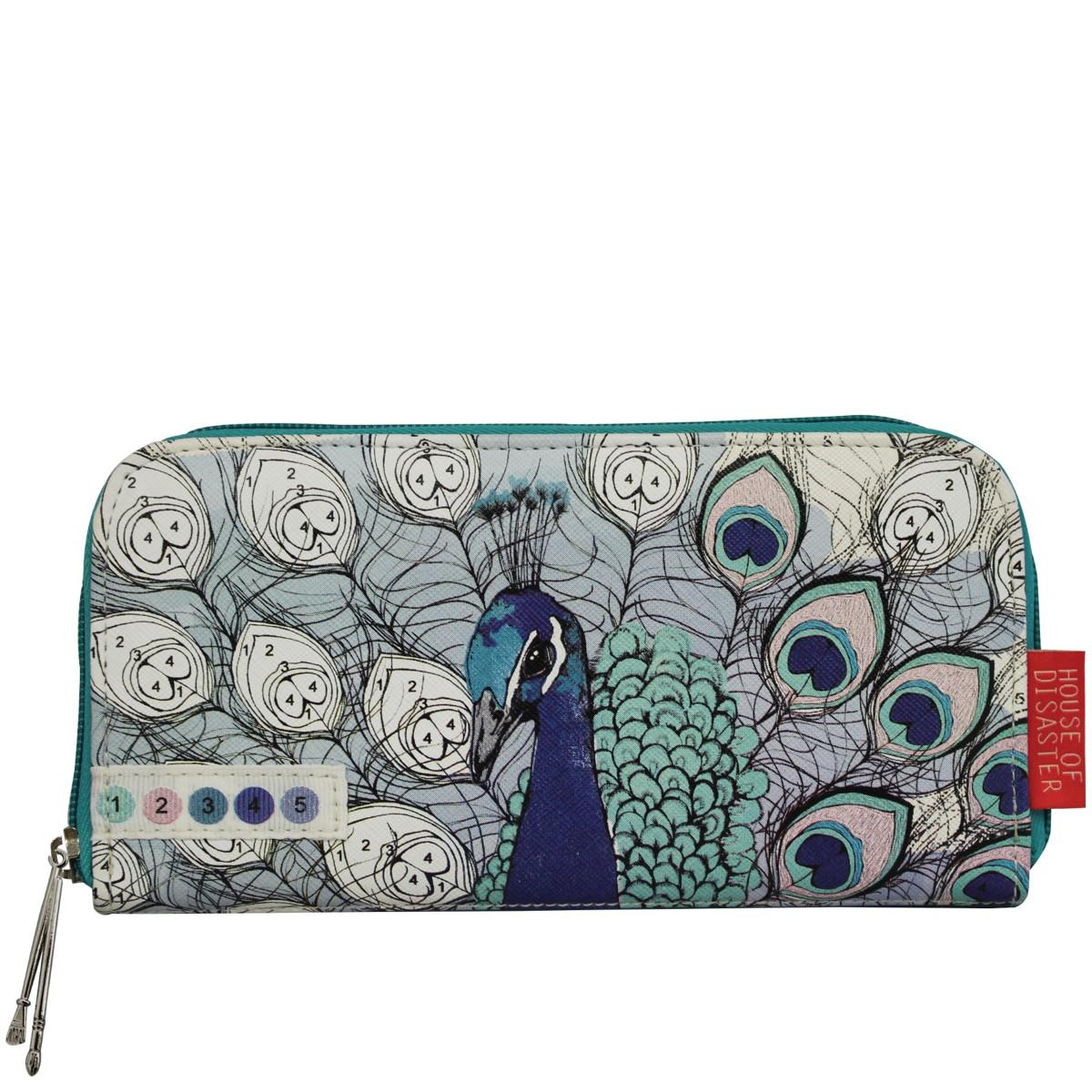 Disaster tyrkysová peněženka Colour Me Peacock