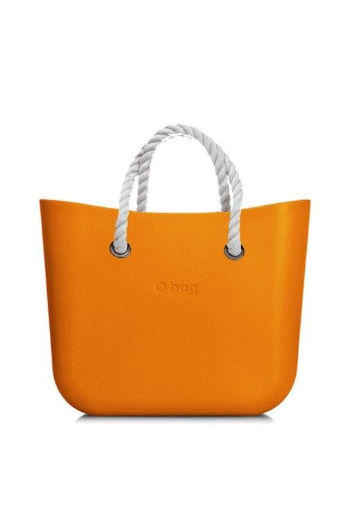 O bag kabelka MINI Becco Doca s bílými krátkými provazy