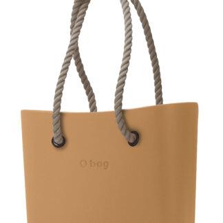 O bag kabelka MINI Biscotto s dlouhými provazy natural