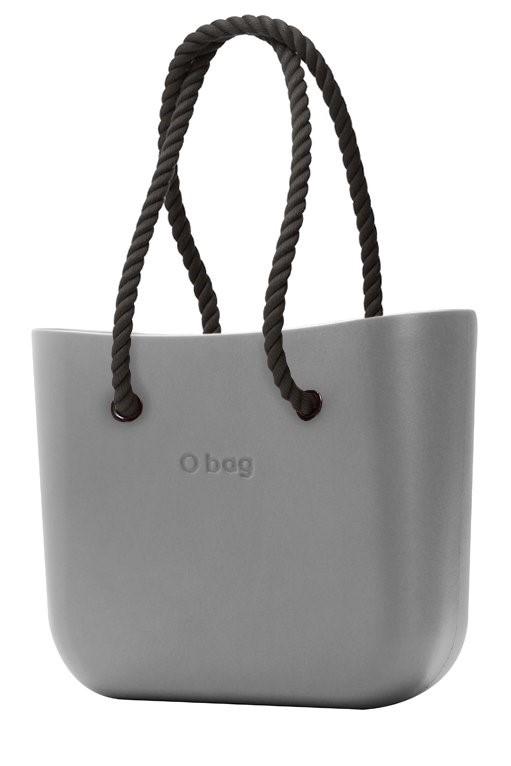 O bag kabelka Grigio Chairo s černými dlouhými provazy