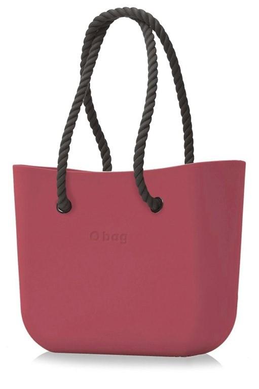 O bag kabelka Marsala s černými dlouhými provazy